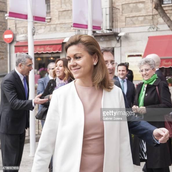 Maria Dolores de Cospedal attends 'El griego de Toledo' Exhibition Opening at Museo de Santacruz on March 14 2014 in Toledo Spain