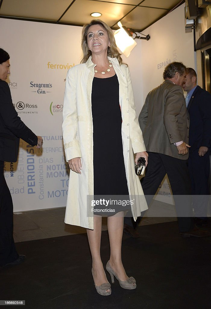 Maria Dolores de Cospedal attends 'La Razon' newspaper 15th anniversary party on November 4, 2013 in Madrid, Spain.