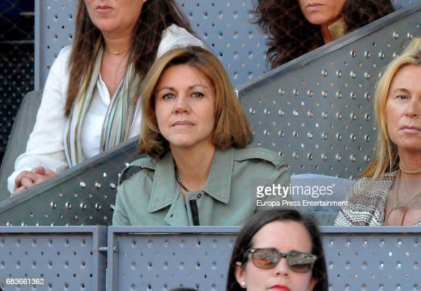 Maria Dolores de Cospedal attends Mutua Madrid Open tennis at La Caja Magica on May 13 2017 in Madrid Spain