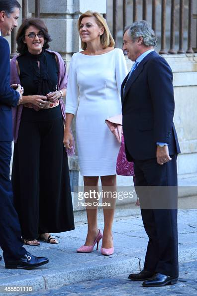 Maria Dolores de Cospedal attends 'Requiem' By Mozart at Toledo's Cathedral on September 20 2014 in Toledo Spain