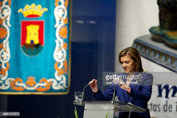 Maria Dolores de Cospedal attends 'Talavera City' awards at Palenque Theater on April 24 2014 in Talavera de la Reina Spain