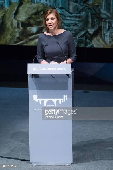 Maria Dolores de Cospedal attends the awards of the 'Real Fundacion de Toledo' at the 'El Greco' auditorium on March 27 2015 in Toledo Spain