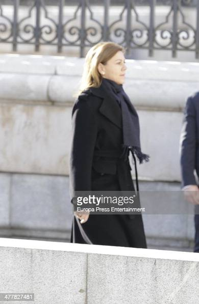 Maria Dolores de Cospedal attends the memorial service for the victims of the March 11 2004 terrorist attacks that killed 192 people and injured more...