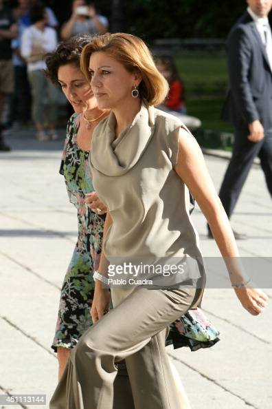 Maria Dolores de Cospedal attends The Opening of 'El Greco y La Pintura Moderna' Exhibition at El Prado Museum on June 23 2014 in Madrid Spain