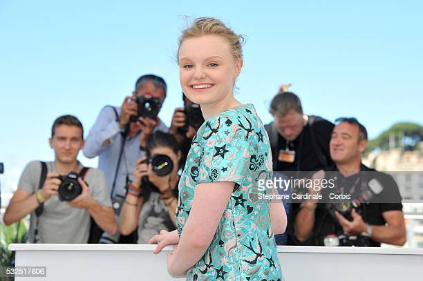 Maria Dragus attends the 'Graduation ' Photocall during the 69th annual Cannes Film Festival at the Palais des Festivals on May 19 2016 in Cannes...