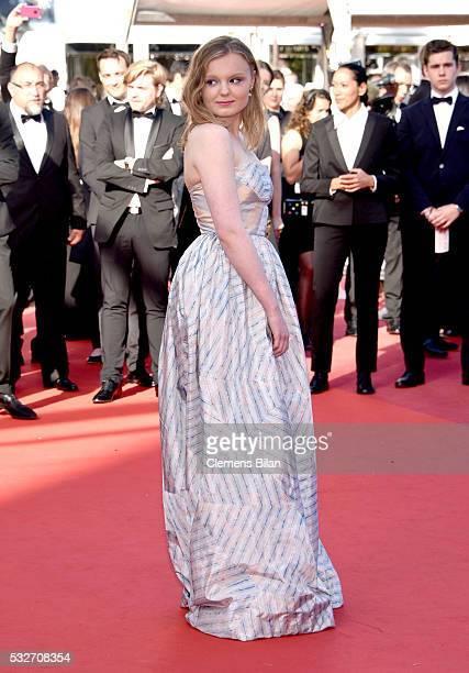 Maria Dragus attends the 'Graduation ' Premiere during the 69th annual Cannes Film Festival at the Palais des Festivals on May 19 2016 in Cannes...