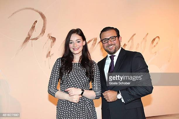 Maria Ehrich and Alexander Gutierrez Diaz attend the presentation of the Baume Mercier 'Promesse' Ladies Collection at Haus der Kunst on July 2 2014...