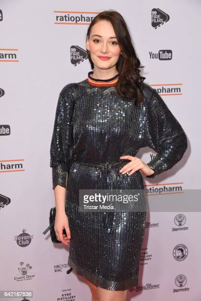Maria Ehrich attends the 99FireFilmsAward at Admiralspalast on February 16 2017 in Berlin Germany