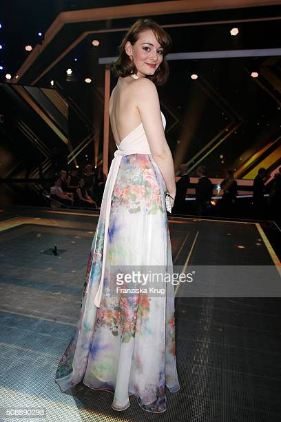 Maria Ehrich attends the Goldene Kamera 2016 show on February 6 2016 in Hamburg Germany