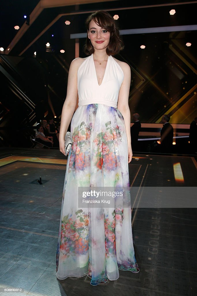 Maria Ehrich attends the Goldene Kamera 2016 show on February 6, 2016 in Hamburg, Germany.