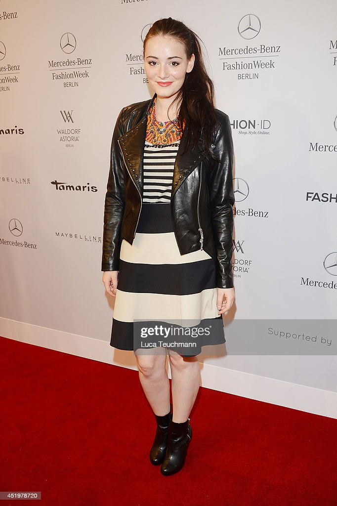 <a gi-track='captionPersonalityLinkClicked' href=/galleries/search?phrase=Maria+Ehrich&family=editorial&specificpeople=6149528 ng-click='$event.stopPropagation()'>Maria Ehrich</a> attends the Laurel show during the Mercedes-Benz Fashion Week Spring/Summer 2015 at Erika Hess Eisstadion on July 10, 2014 in Berlin, Germany.