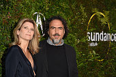 Maria Eladia Hagerman and director Alejandro Gonzalez Inarritu attend the 2015 Sundance Institute Celebration Benefit at 3LABS on June 2 2015 in...