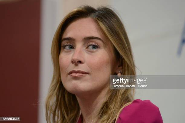 Maria Elena Boschi Undersecretary of the Presidency of the Council during the presentation of the book 'Development and Innovation' by Vito Cozzoli...