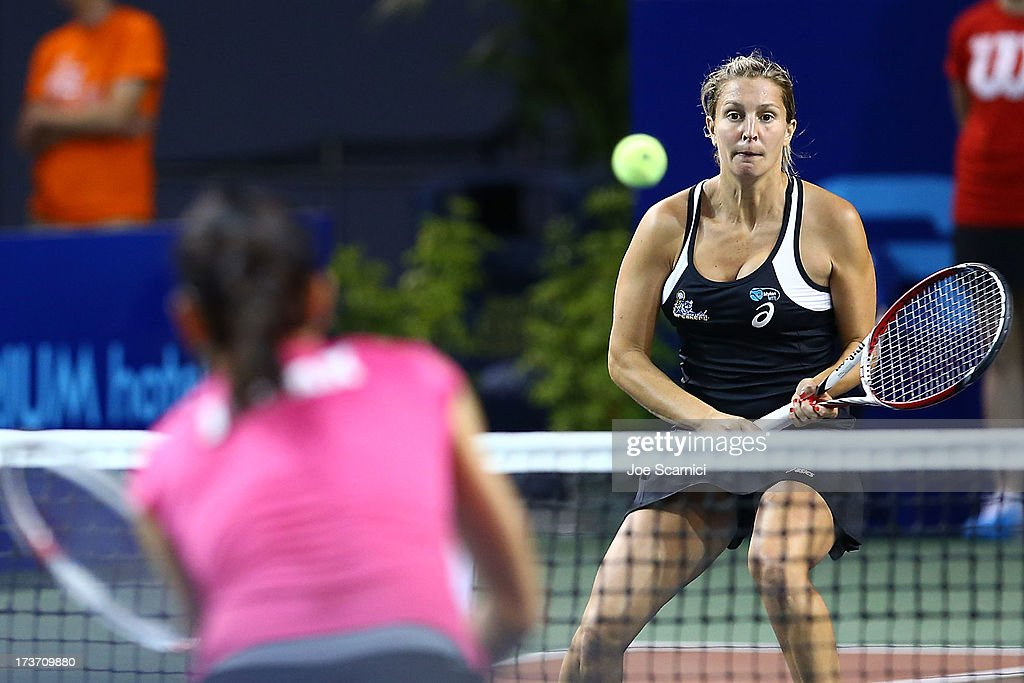 <a gi-track='captionPersonalityLinkClicked' href=/galleries/search?phrase=Maria+Elena+Camerin&family=editorial&specificpeople=536680 ng-click='$event.stopPropagation()'>Maria Elena Camerin</a> of the Orange County Breakers in action as the Texas Wild compete against the Orange County Breakers on July 16, 2013 in Newport Beach, California.