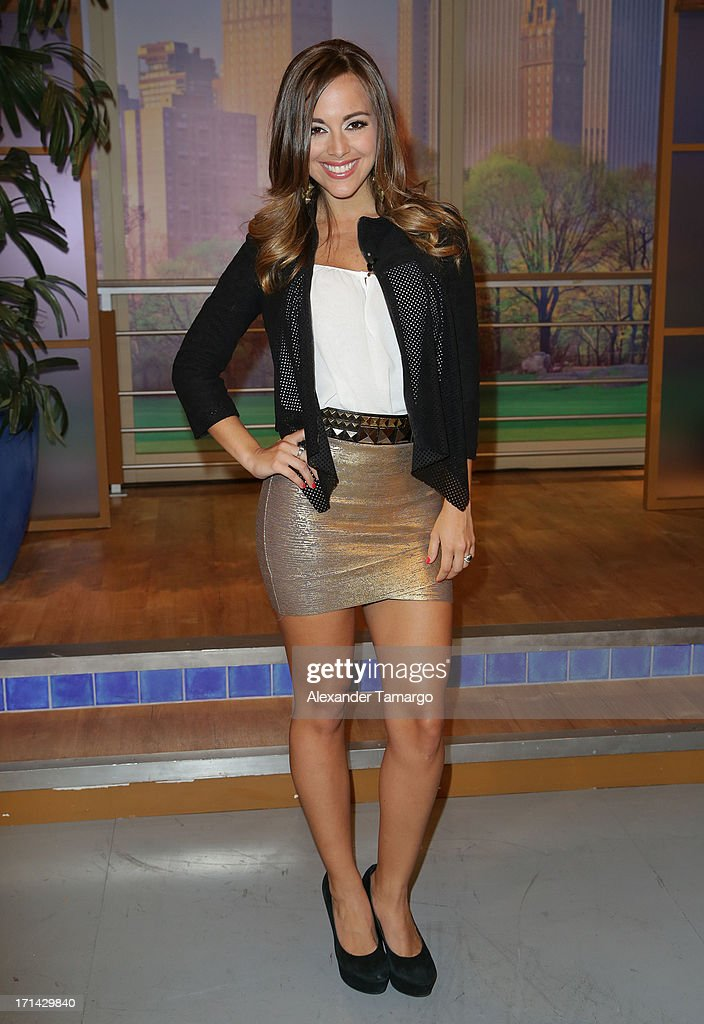 Maria Elisa Camargo appears on Univision's 'Despierta America' to promote film 'White House Down' at Univision Headquarters on June 24, 2013 in Miami, Florida.