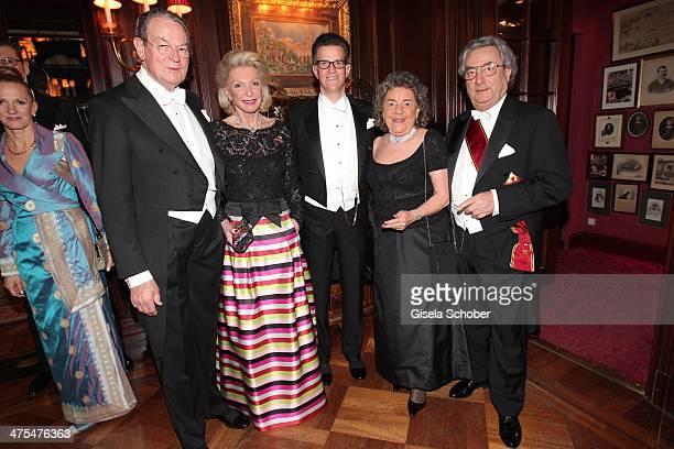 Maria Elisabeth Schaeffler and boyfriend Juergen Thurmann Georg Guertler Dieter Hundt and wife Christina attend the traditional Vienna Opera Ball at...