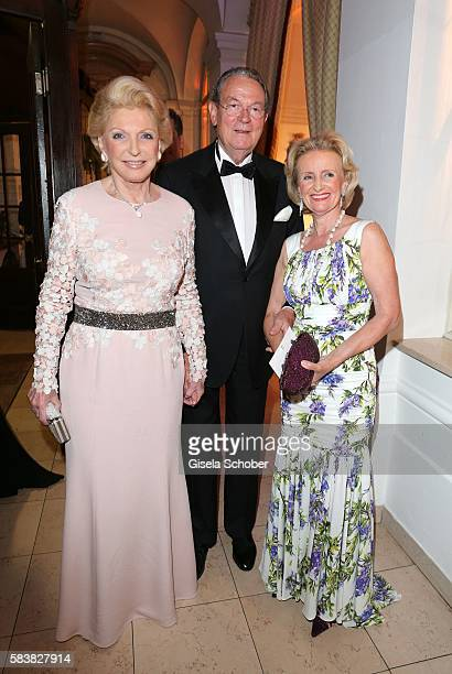Maria Elisabeth Schaeffler SchaefflerThumann and her husband Juergen Thumann Elisabeth Guertler during the ISA gala at Schloss Leopoldskron on July...