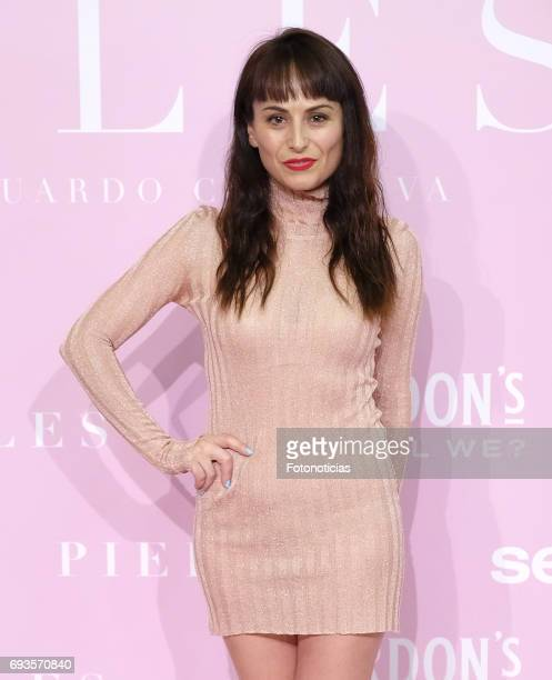 Maria Escote attends the 'Pieles' premiere pink carpet at Capitol cinema on June 7 2017 in Madrid Spain