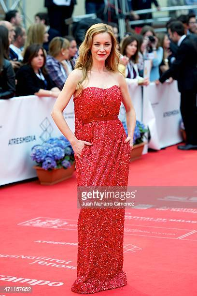 Maria Esteve attends the 'Solo Quimica' premiere during the 18th Malaga Spanish Film Festival at the Cervantes Theater on April 25 2015 in Malaga...