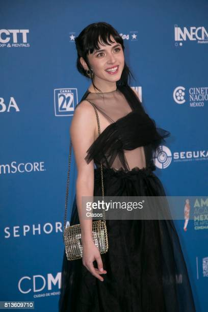 Maria Evoli poses during during the 59th Ariel Awards Red Carpet at Palacio de Bellas Artes on July 11 2017 in Mexico City Mexico