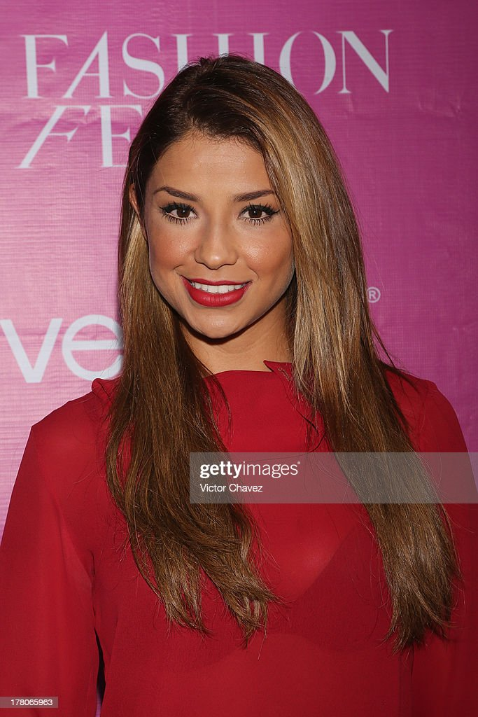 Maria Fernanda Quiroz attends the Liverpool Fashion Fest Autumn/Winter 2013 at Club de Banqueros on August 22, 2013 in Mexico City, Mexico.