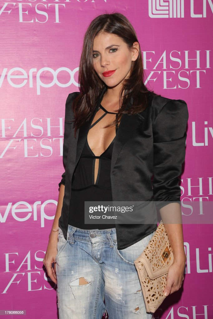 Maria Fernanda Yepes attends the Liverpool Fashion Fest Autumn/Winter 2013 at Club de Banqueros on August 22, 2013 in Mexico City, Mexico.