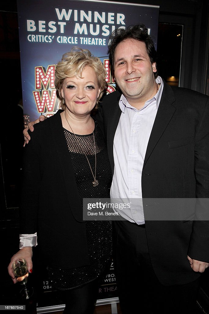 Maria Friedman (L) and David Babani attend an after party celebrating the press night performance of the Menier Chocolate Factory's 'Merrily We Roll Along', following its transfer to the Harold Pinter Theatre, at Grace Restaurant on May 1, 2013 in London, England.