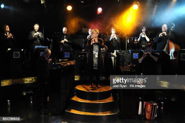Maria Friedman performs a number from 'Rearranged' accompanied by 11 piece band at the Menier Chocolate Factory in south London