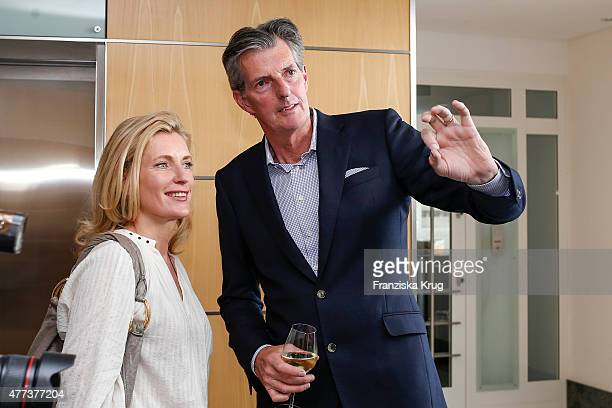 Maria Furtwaengler and Andreas Petzold attend the STERN And CAPITAL Summer Party on June 16 2015 in Berlin Germany