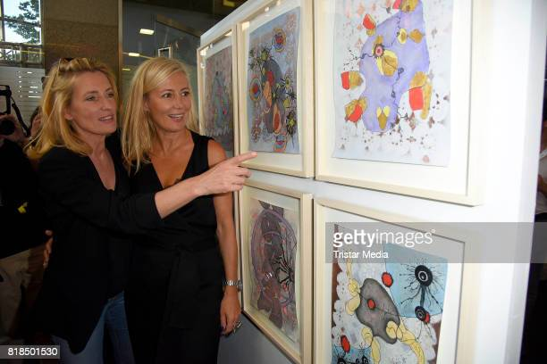 Maria Furtwaengler and Judith Milberg attend the exhibition opening 'Judith Milberg Aus der Mitte' at HypoVereinsbank Charlottenburg on July 18 2017...