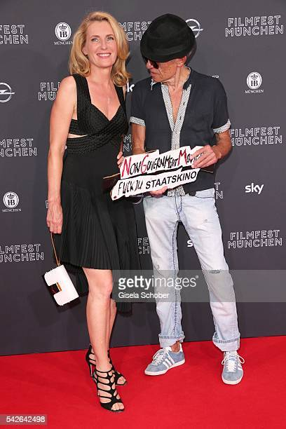Maria Furtwaengler and Klaus Lemke during the opening night of the Munich Film Festival 2016 at Mathaeser Filmpalast on June 23 2016 in Munich Germany