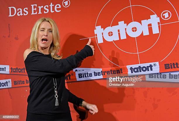 Maria Furtwaengler attends premiere of Tatort 'Der sanfte Tod' at Passage cinema on December 3 2014 in Hamburg Germany