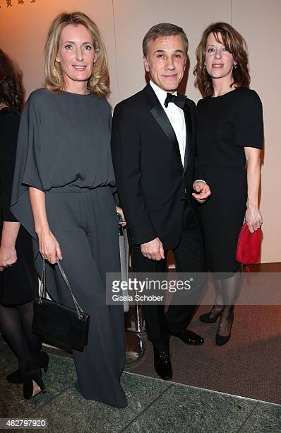 Maria Furtwaengler Christoph Waltz and wife Judith Holste attend the 'Nobody Wants the Night' Opening Night premiere during the 65th Berlinale...