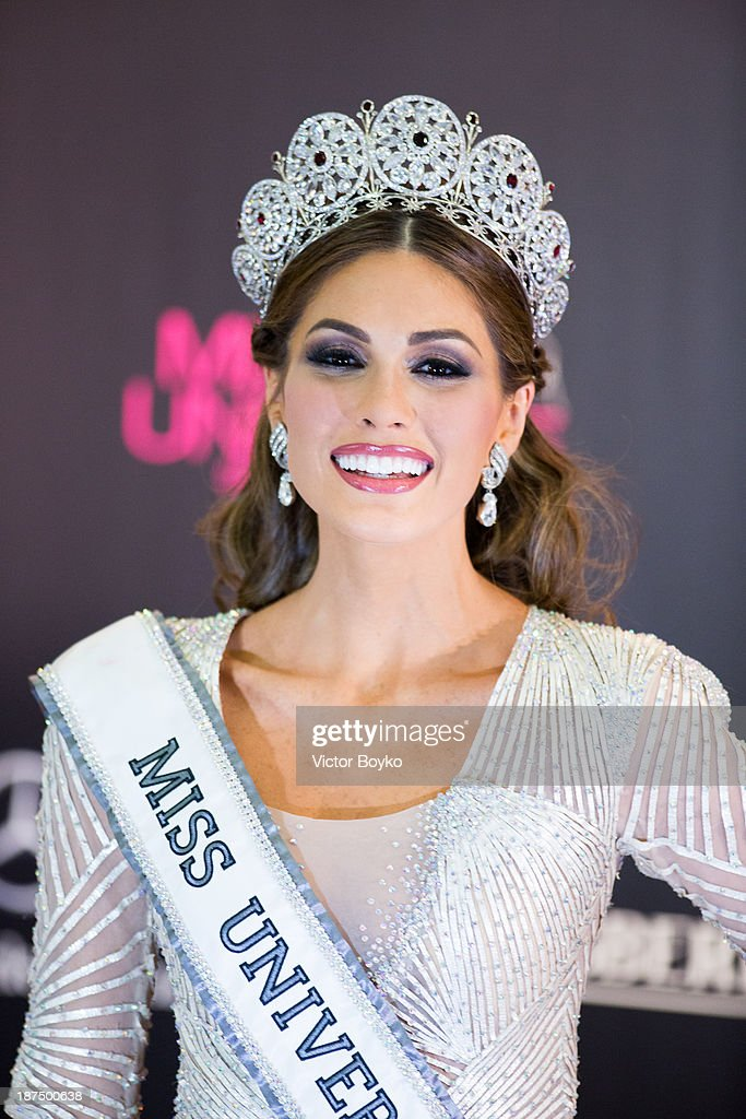 Maria Gabriela Isler of Venezuela poses after her win at Miss Universe Pageant Competition 2013 on November 9 2013 in Moscow Russia
