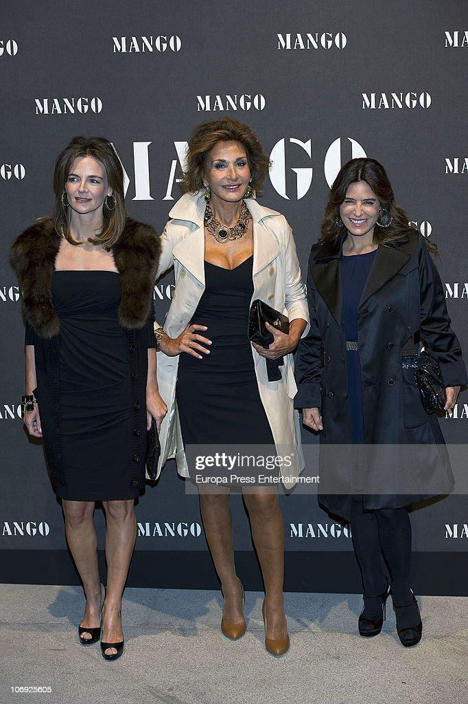 Maria Garcia de la Rasilla and Nati Abascal attend the launch of Mango new spring/summer 2011 collection at the Palacio de Cibeles on November 16, 2010 in Madrid, Spain.