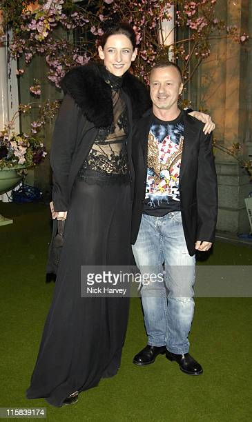 Maria Grachvogel and Jacques Azaguri during Moscow Motion Party at Old Billingsgate Market in London Great Britain