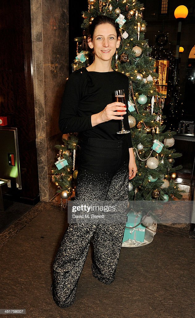 Maria Grachvogel attends as Joely Richardson officially opens the Tiffany & Co. Christmas Shop on Bond Street, London on November 24, 2013 in London, England.