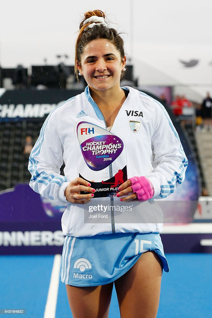 Maria Granatto of Argentina, junior player of the tournament at the FIH Women's Hockey Champions Trophy 2016 at Queen Elizabeth Olympic Park on June 26, 2016 in London, England.