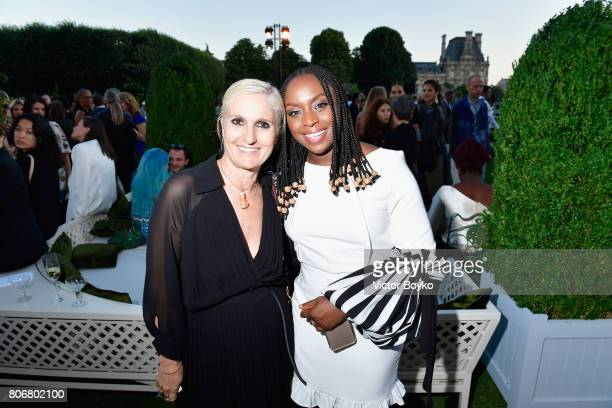 Maria Grazia Chiuri and guest attend 'Christian Dior couturier du reve' Exhibition Launch celebrating 70 years of creation at Loulou Club on July 3...