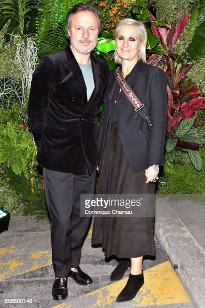 Maria Grazia Chiuri and guest attend the Fashion Tech Lab Launch Event Hosted By Miroslova Duma And Stella McCartney as part of Paris Fashion Week...
