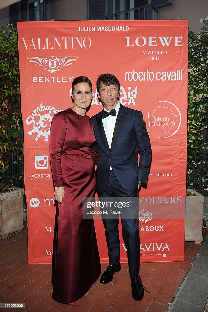 Maria Grazia Chiuri and Pierpaolo Piccioli attend Cash & Rocket On Tour Women for Women - Gala Dinner and Auction on June 16, 2013 in Rome, Italy.