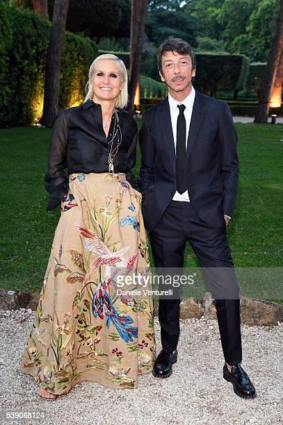 Maria Grazia Chiuri and Pierpaolo Piccioli attend McKim Medal Gala In Rome at Villa Aurelia on June 9 2016 in Rome Italy