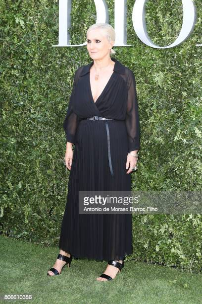Maria Grazia Chiuri attends 'Christian Dior couturier du reve' Exhibition Launch celebrating 70 years of creation at Musee Des Arts Decoratifs on...