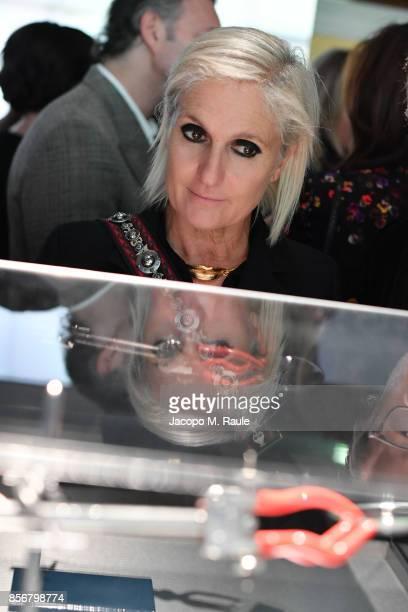 Maria Grazia Chiuri attends Fashion Tech Lab launch event hosted by Miroslava Duma and Stella McCartney as part of Paris Fashion Week Womenswear...
