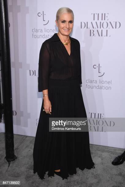 Maria Grazia Chiuri attends Rihanna's 3rd Annual Diamond Ball Benefitting The Clara Lionel Foundation at Cipriani Wall Street on September 14 2017 in...