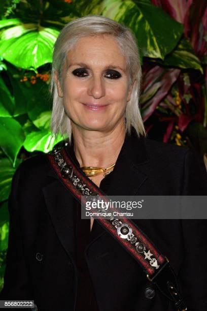 Maria Grazia Chiuri attends the Fashion Tech Lab Launch Event Hosted By Miroslova Duma And Stella McCartney as part of Paris Fashion Week Womenswear...