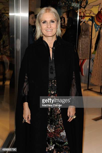 Maria Grazia Chiuri attends the goop mrkt grand opening event at The Shops at Columbus Circle on December 2 2015 in New York City