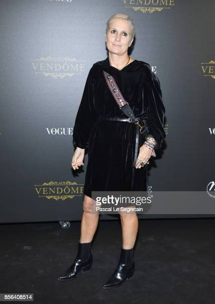 Maria Grazia Chiuri attends the Irving Penn Exhibition Private Viewing Hosted by Vogue as part of the Paris Fashion Week Womenswear Spring/Summer...