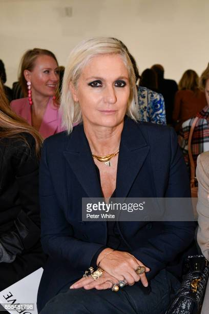 Maria Grazia Chiuri attends the Loewe show as part of the Paris Fashion Week Womenswear Spring/Summer 2018 on September 29 2017 in Paris France
