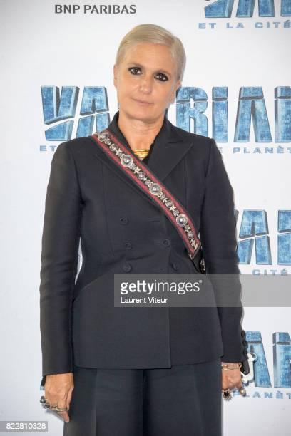 Maria Grazia Chiuri attends 'Valerian et la Cite desMille Planetes' Paris Premiere at La Cite Du Cinema on July 25 2017 in SaintDenis France